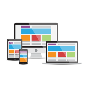 websites displayed on four different devices