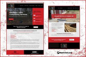 screenshots of an optimized contractor website